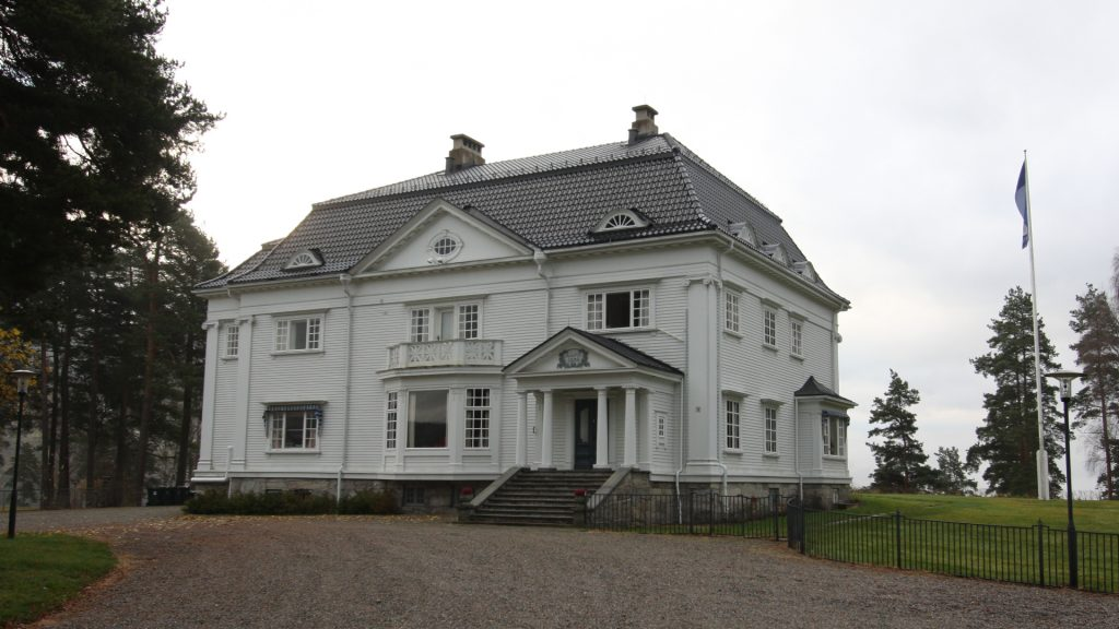 Hovedinngangen mot nord. Foto: Eystein M.Andersen/ Telemark fylkeskommune