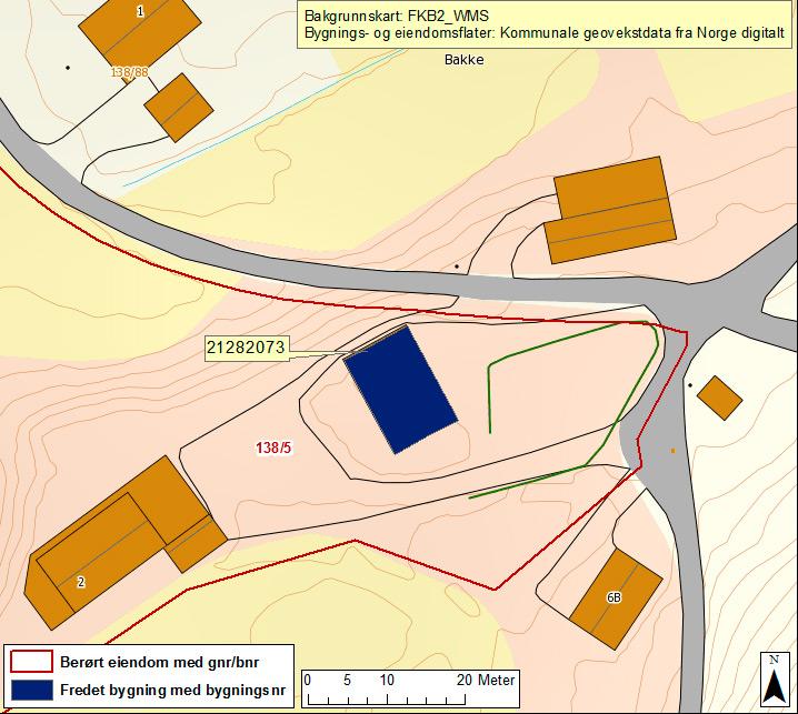 Bakke Lensmannsgård Kart