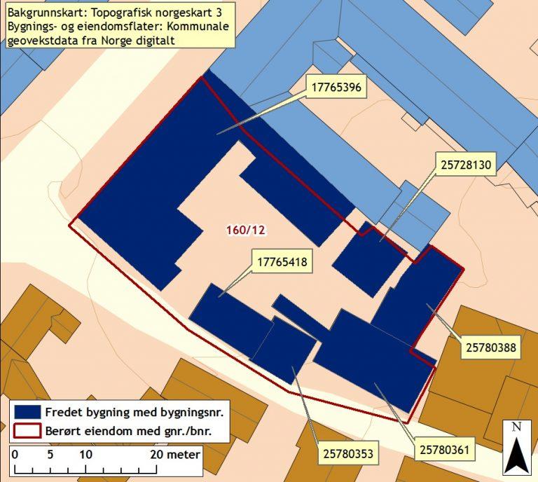Kart over Finnegården
