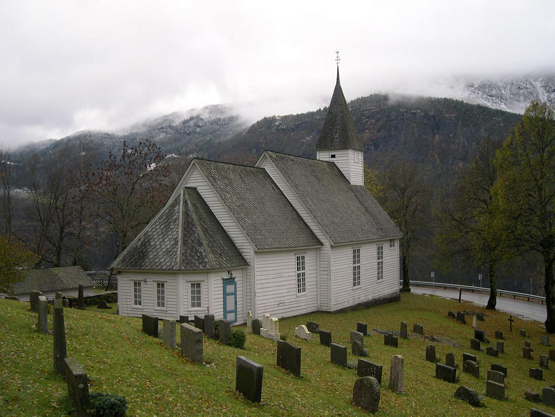Granvin kyrkje Hordaland. Foto: Oddbjørn Sørmoen Riksantikvaren