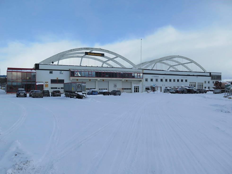 Bilde av Hangaren på Skattøra. Foto: Troms fylkeskommune
