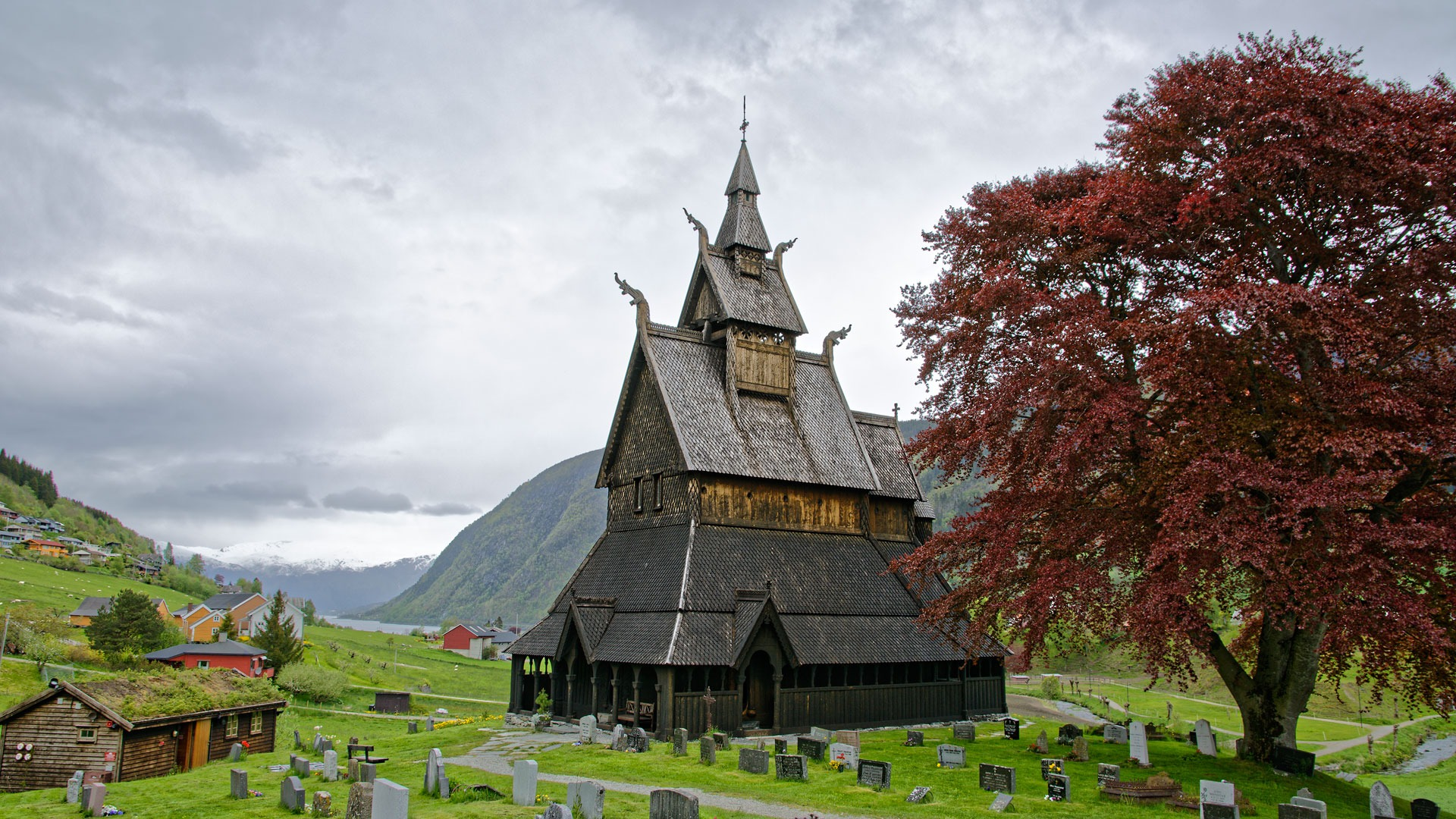 Hopperstad stave church after the renovation through the Conservation programme for stave churches. Photo: Dagfinn Rasmussen, the Directorate of Cultural Heritage