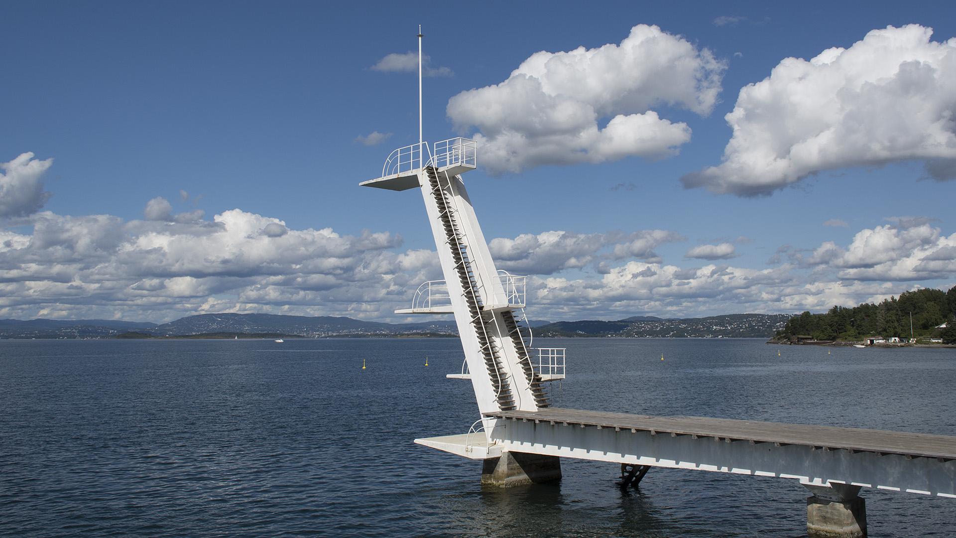 Stupetårnet ved Ingierstrand bad. Foto: Dagfinn Rasmussen Riksantikvaren
