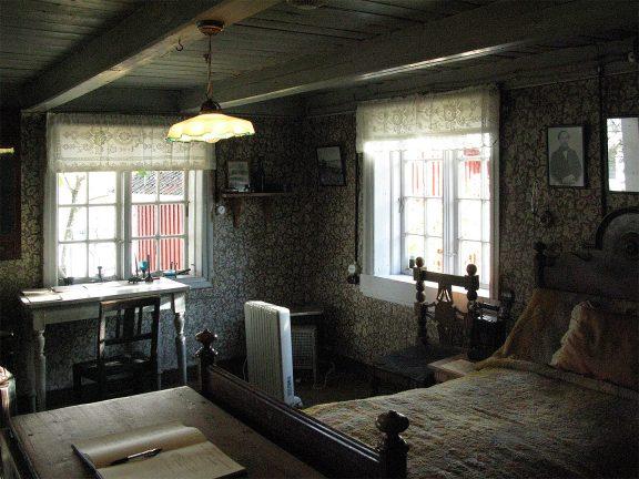 Stuen som også var Edvard Munchs soverom. Foto: Ingeborg Magerøy Riksantikvaren