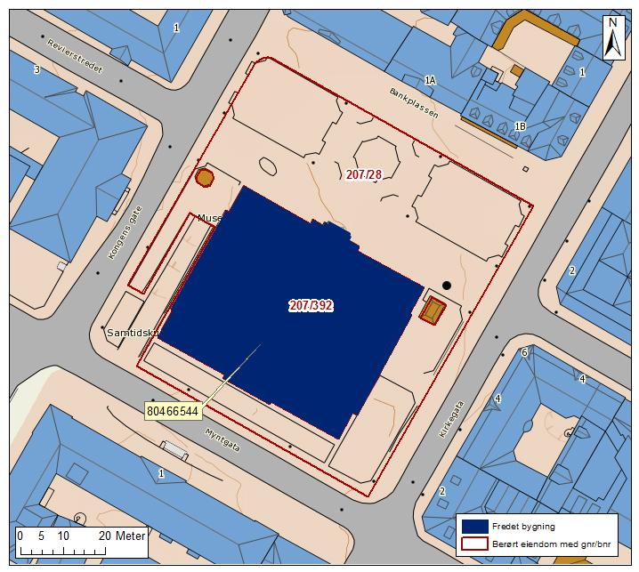 Kart over bankplassen