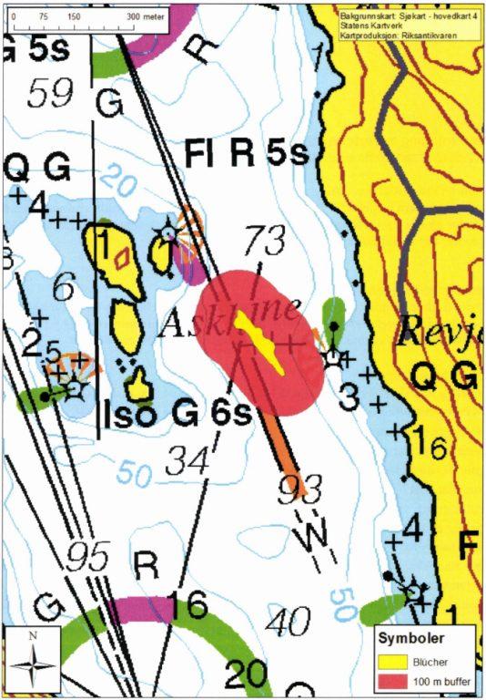 Kart over Blücher