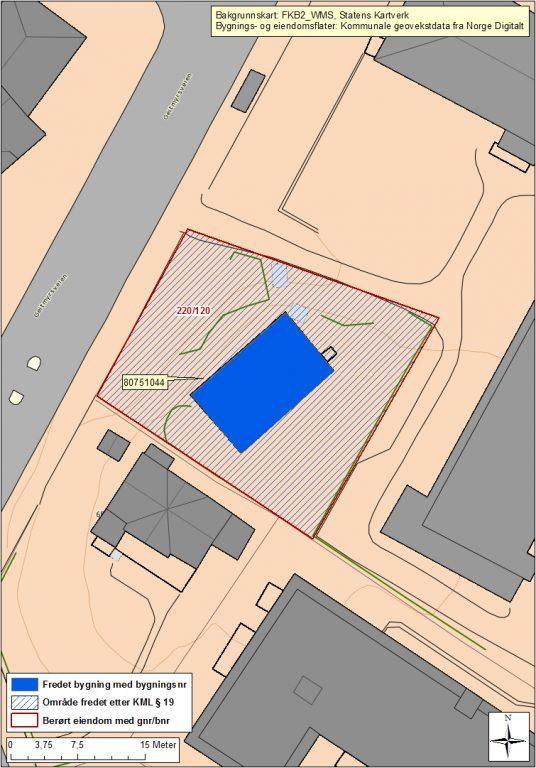 Kart over Løkkeberg