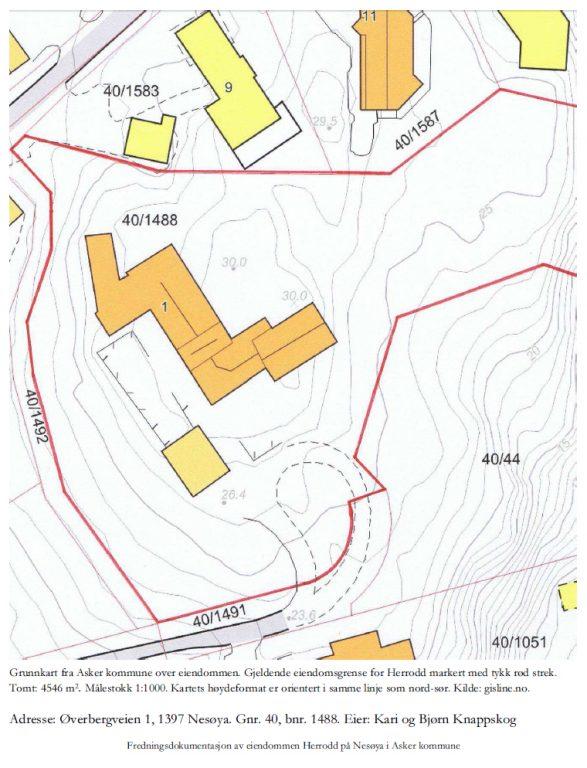 Kart over Herrodd