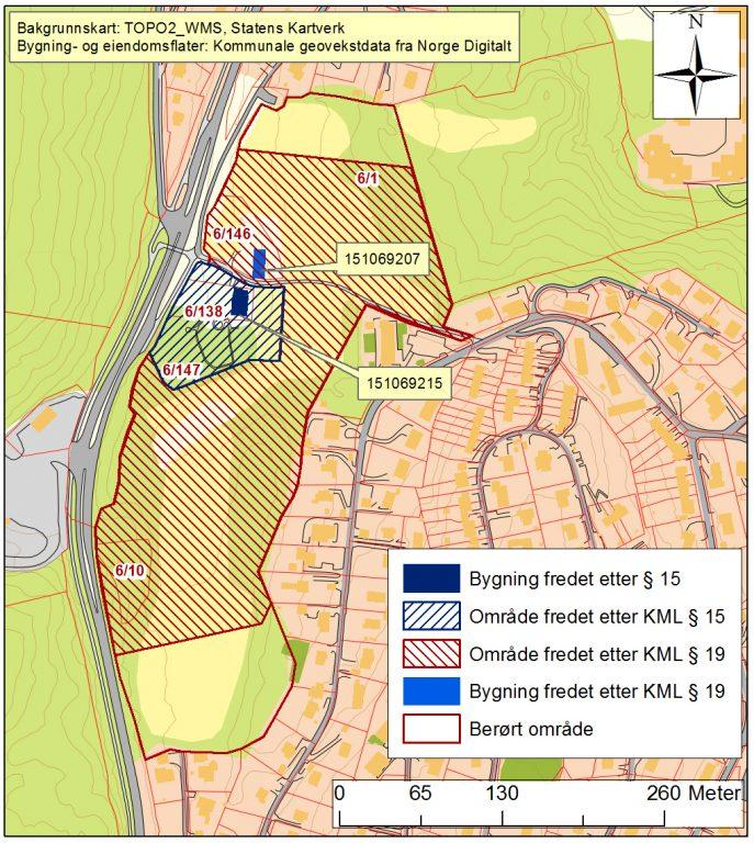 Kart over Markerud gård