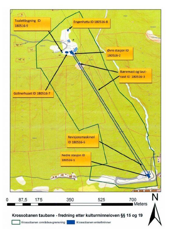 Kart over Krossobanen