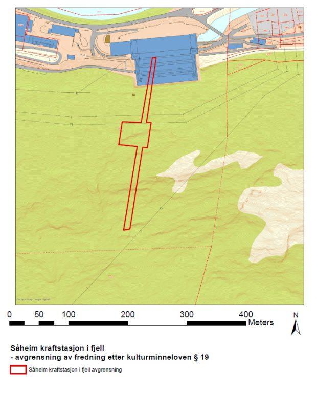 Kart over Såheim