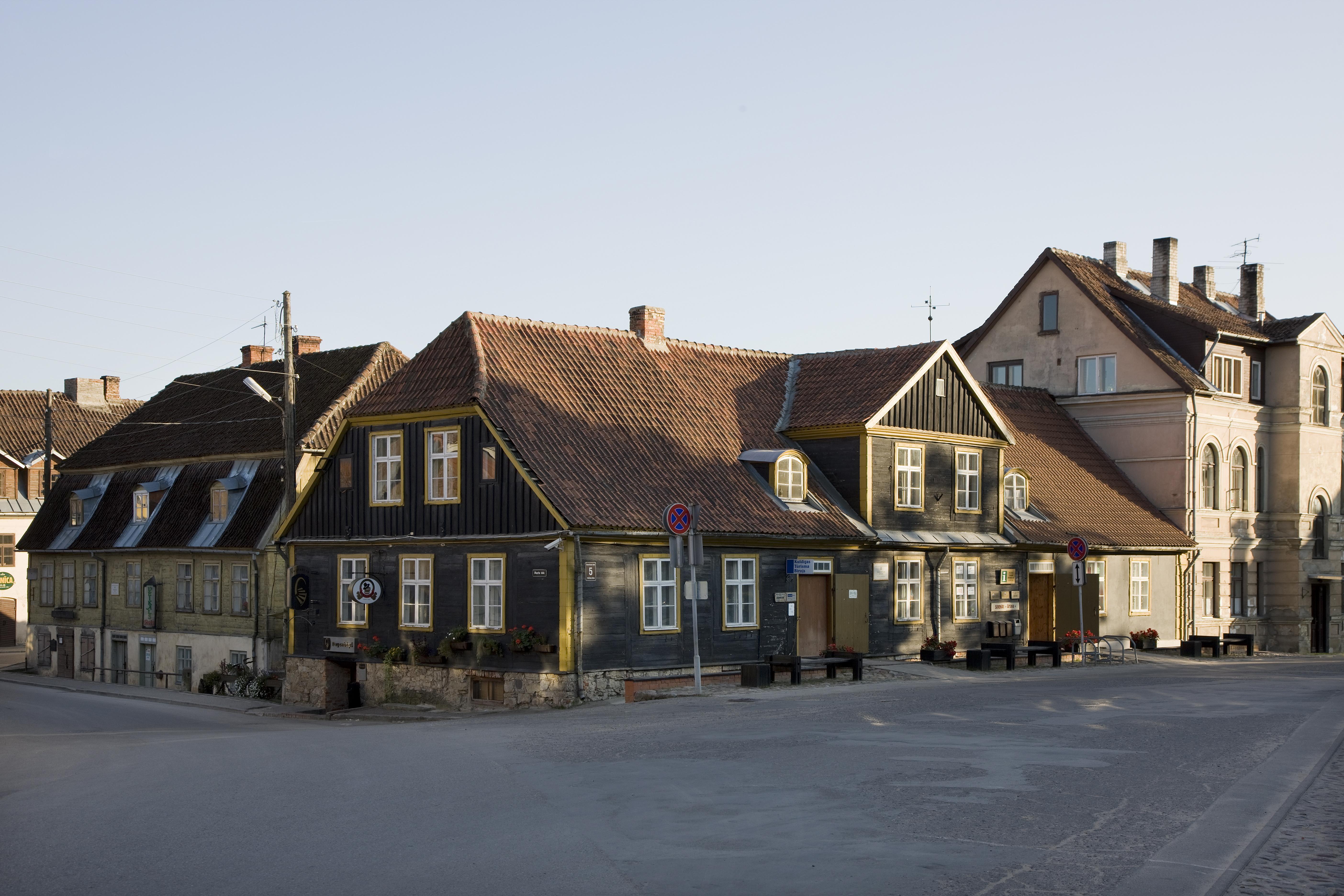 Det gamle rådhuset i Kuldiga