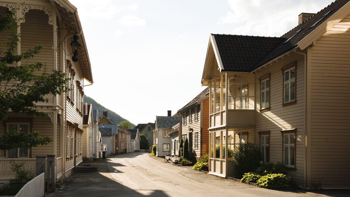 Lærdalsøyri. Foto: Guri Dahl / Riksantikvaren