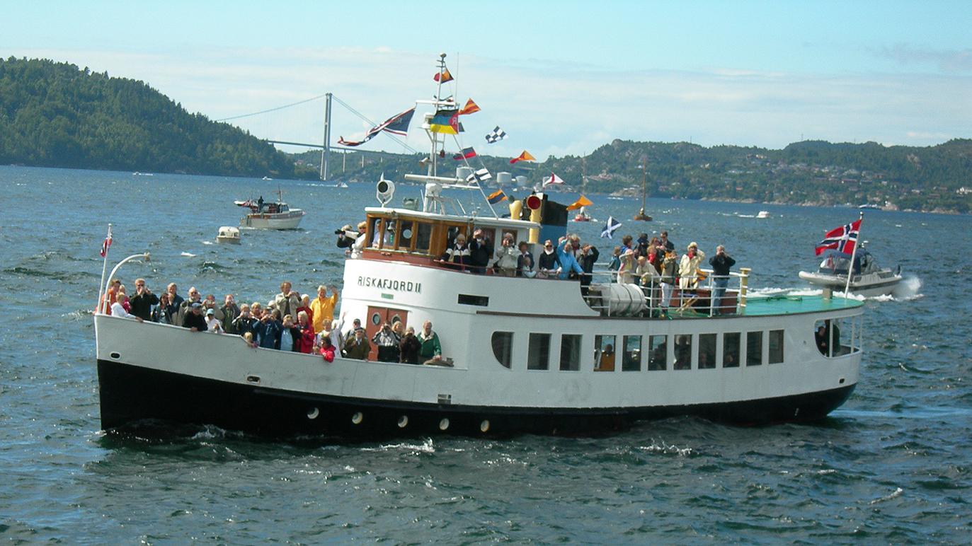 Lokalrutebåten M/S Riskafjord II Stavanger. Foto: Eivind Lande