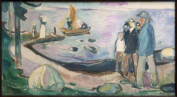 Ett av Edvard Munchs bilder i spisesalen. Foto: Dagfinn Rasmussen Riksantikvaren
