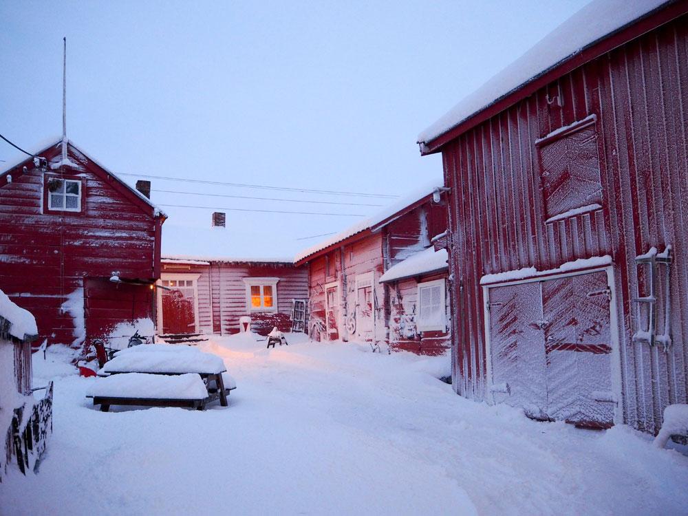 Tuomainengården vinteren 2015. Foto: Renate Martinussen/Varanger museum