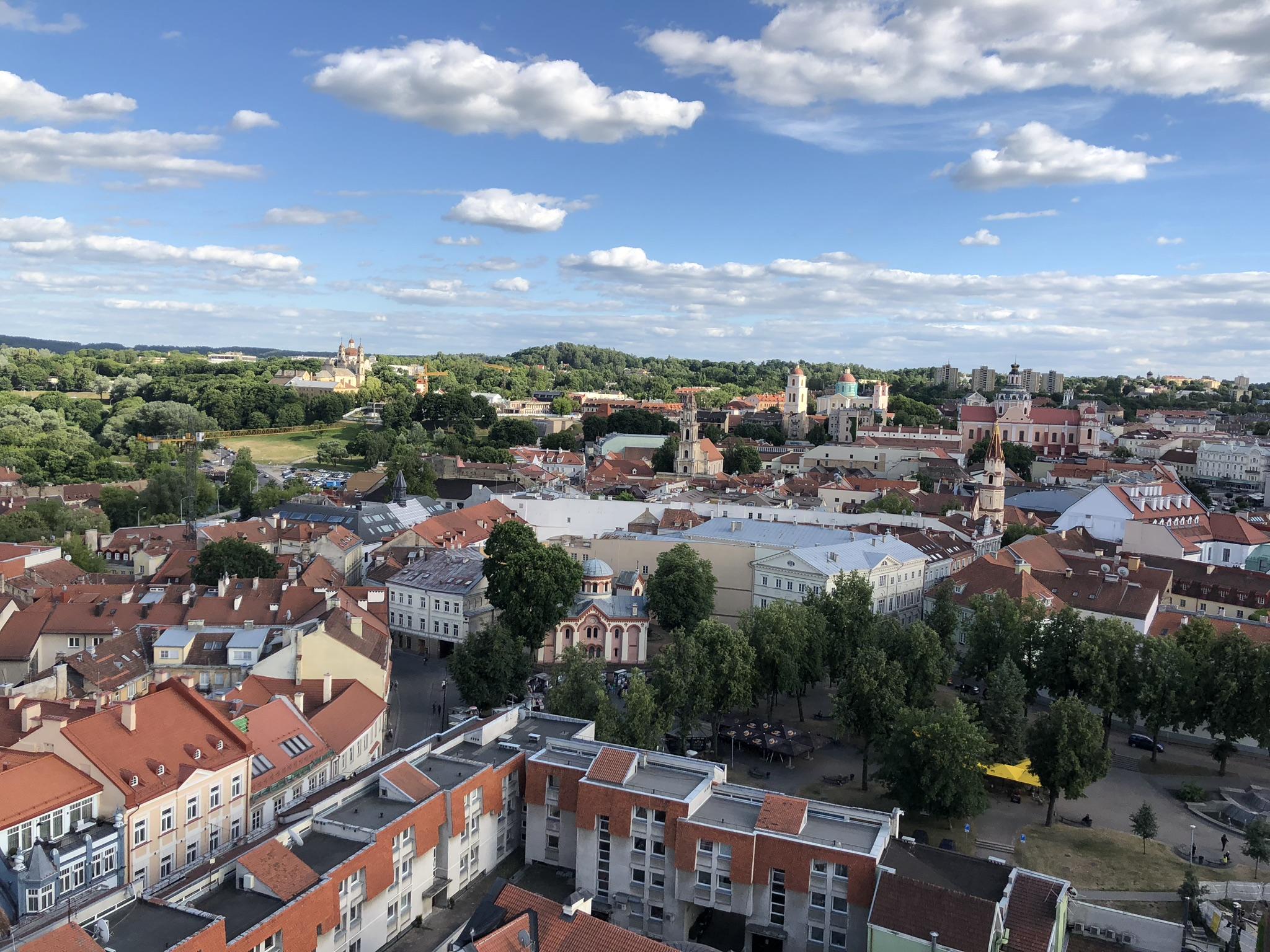 Utsikt over Vilnius