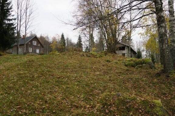 Bildet viser en høyde i Varaldskogen i Kongsvinger kommune ligger skogfinneplassen Abborhøgda (Yöperinmaki). Plassen har hatt skogfinsk bosetning siden 1700-tallet. Foto er tatt av May Britt Håbjørg, Riksantikvaren