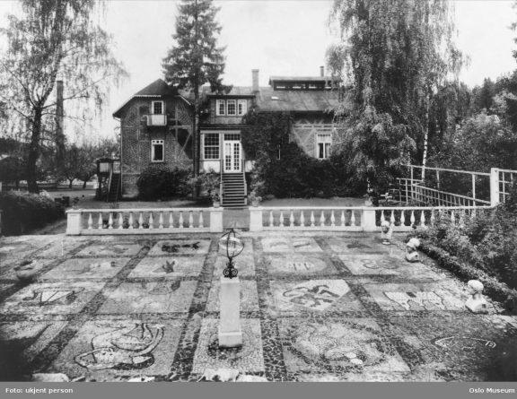 Gammelt bilde av Christinedal anno 1951. Fotograf er ukjent, Oslo Museum,