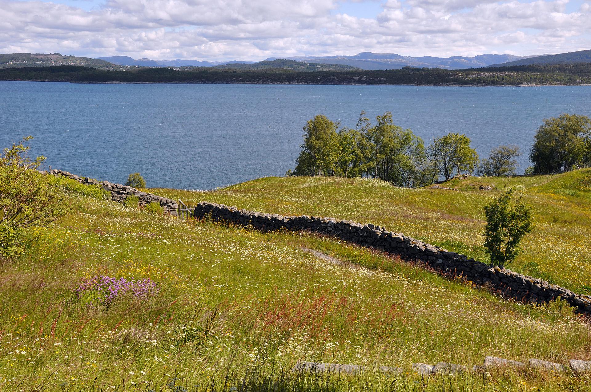 Bilde av landskapet rundt. Foto: Ann Steindal, Hordaland fylkeskommune