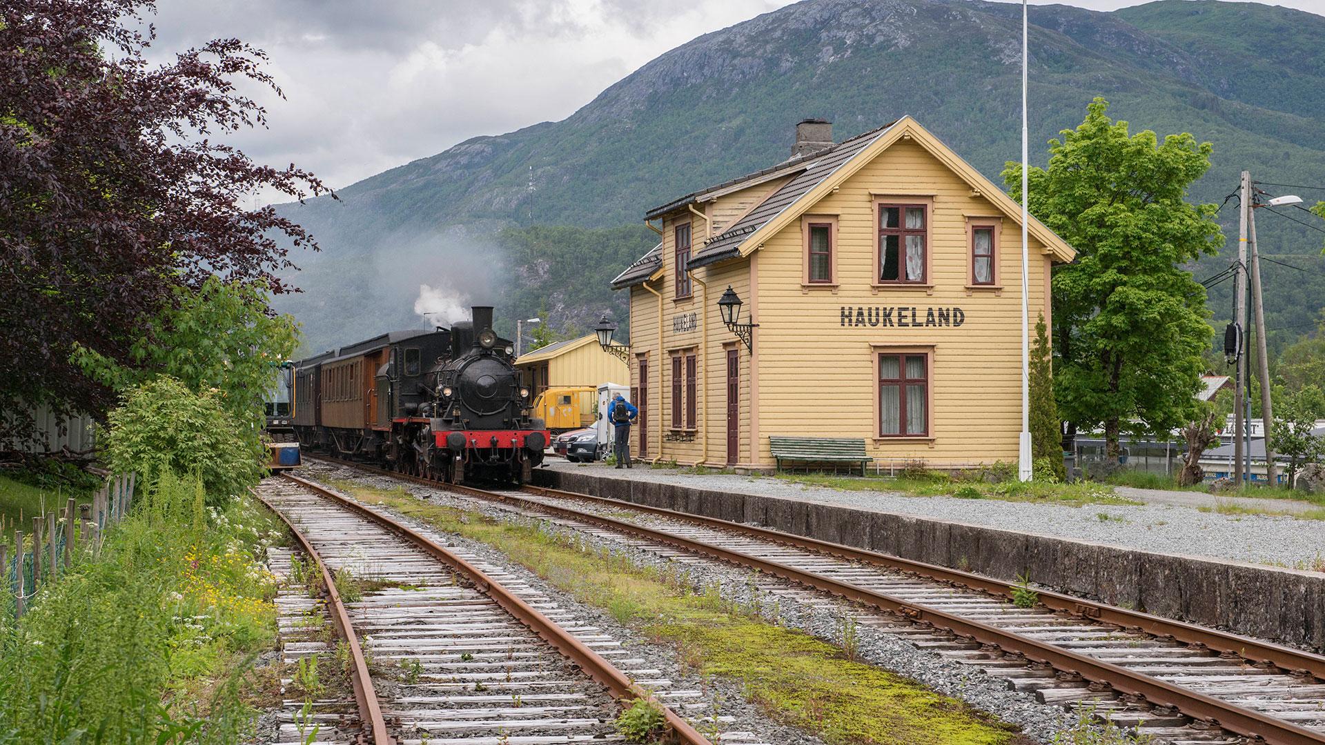 Bilde av Gamle Vossebanen. Foto: Museet Gamle Vossebanen