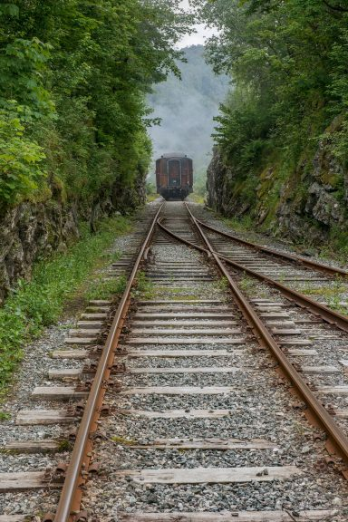 Bildet viser jernbanesvillene på Vossebanen. Foto: Museet Gamle Vossebanen