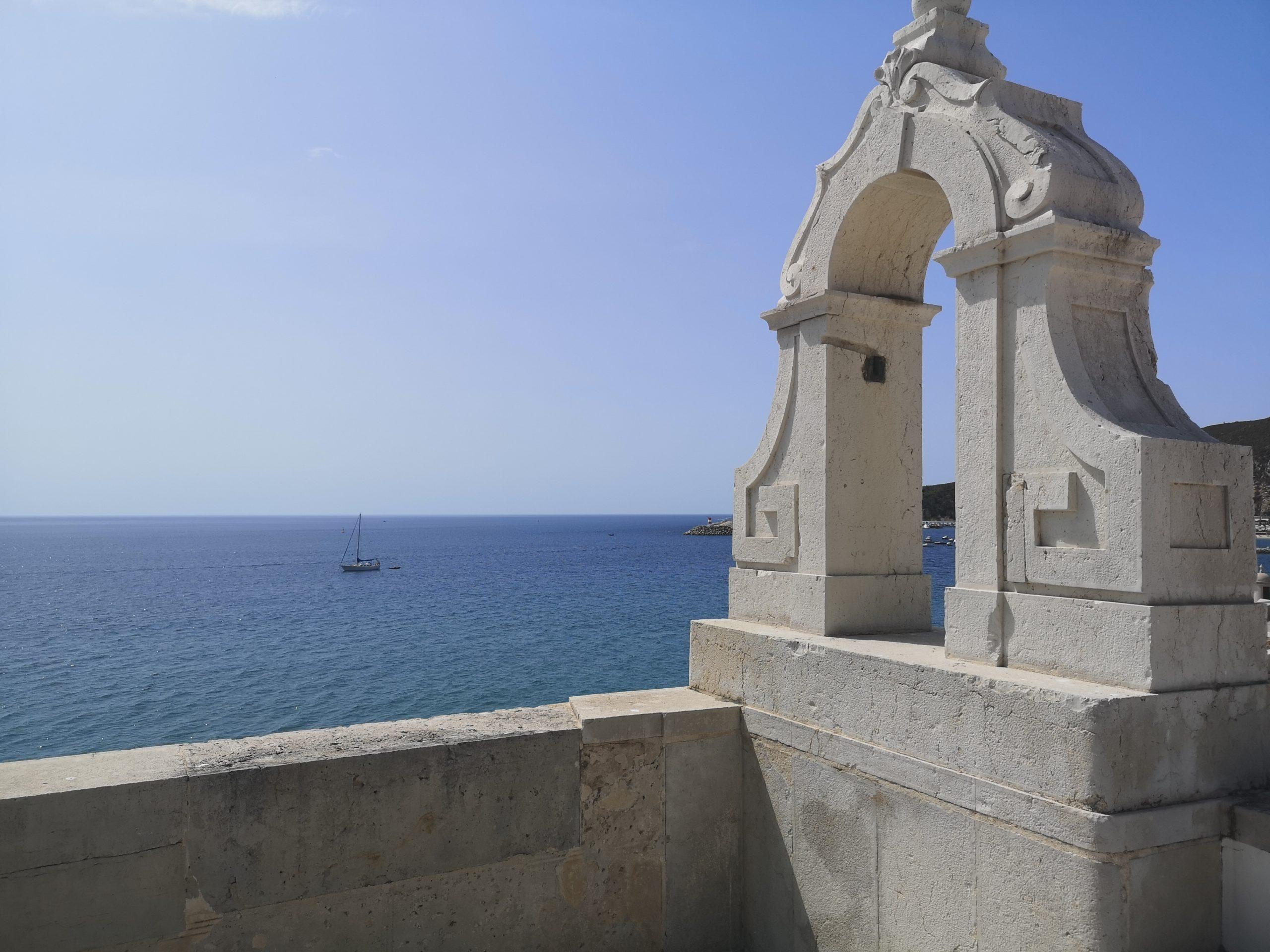 Utsikt fra fortet i Sesimbra, Portugal