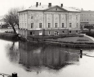 Bildet viser Kongegården Halden i 1974. Foto: Tore Holter, Riksantikvaren
