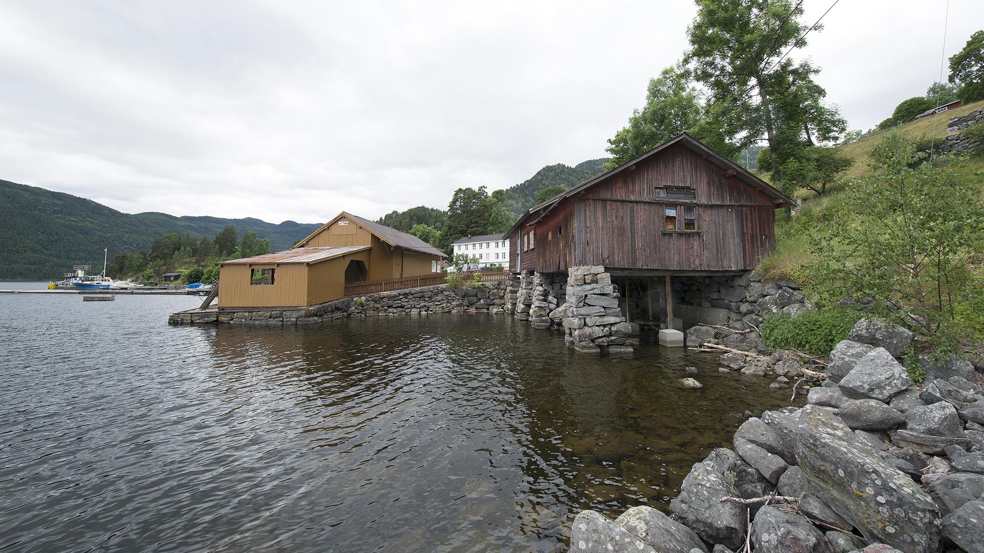 Bilde av Lårdal Brygge. Foto: Ole Bjørn Ulsnæs