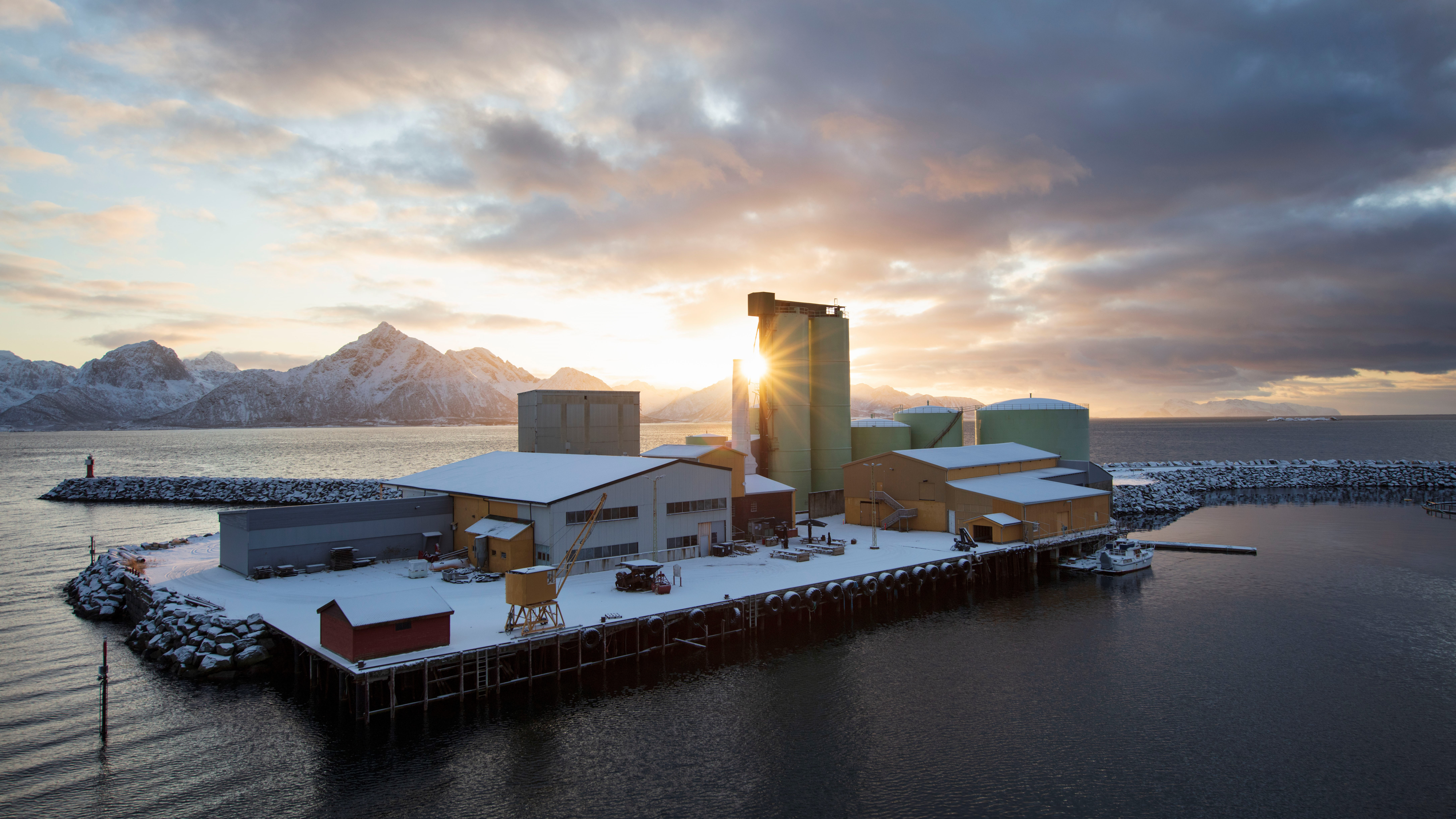 Neptune Herring Oil Factory was established in 1910 and is located on Svinøya in Hadsel Municipality, Nordland County. Photo: Trond A. Isaksen, Directorate for Cultural Heritage