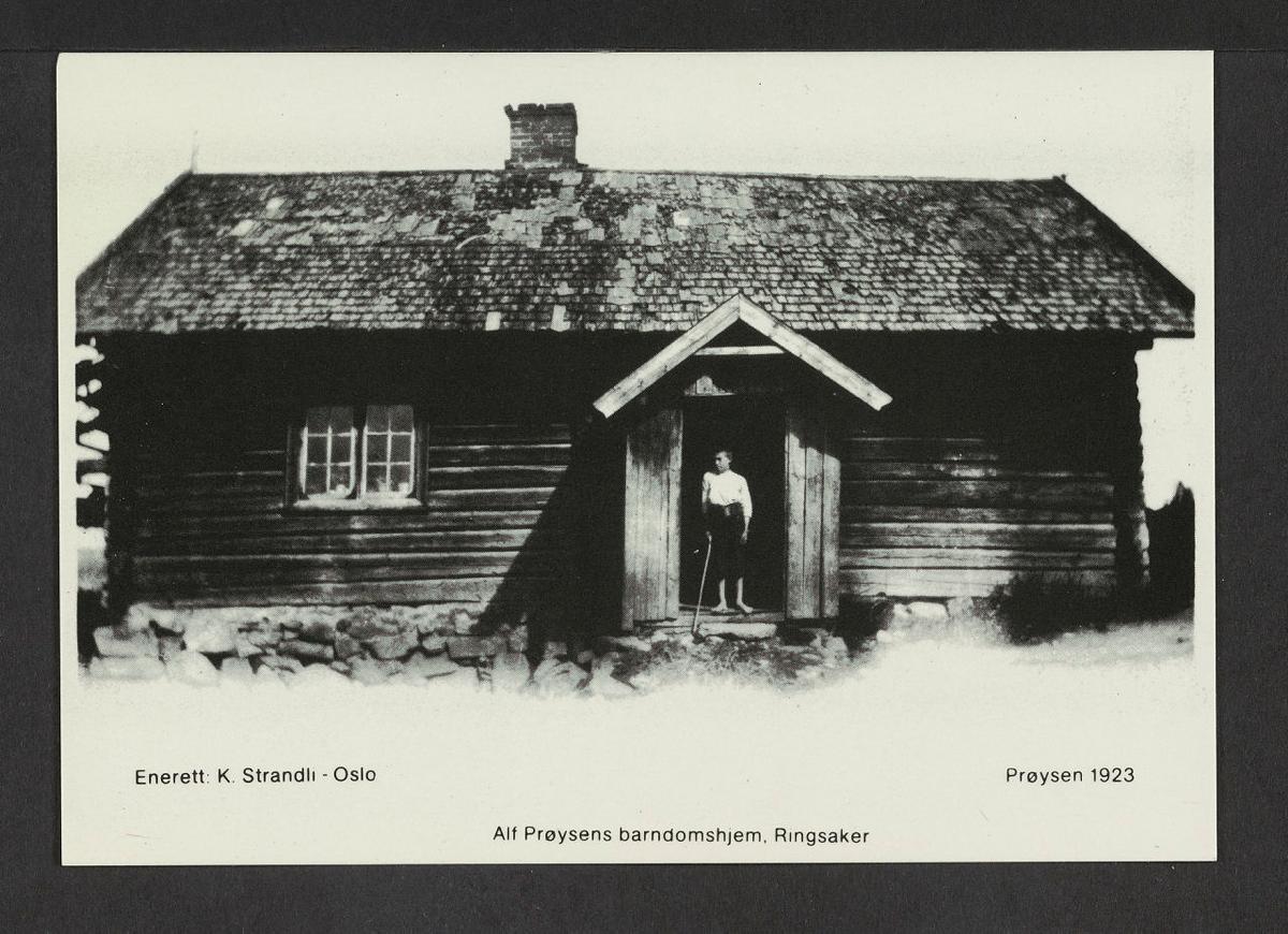 Bilde av Prøseynstua, datert 1923. Fotograf ukjent