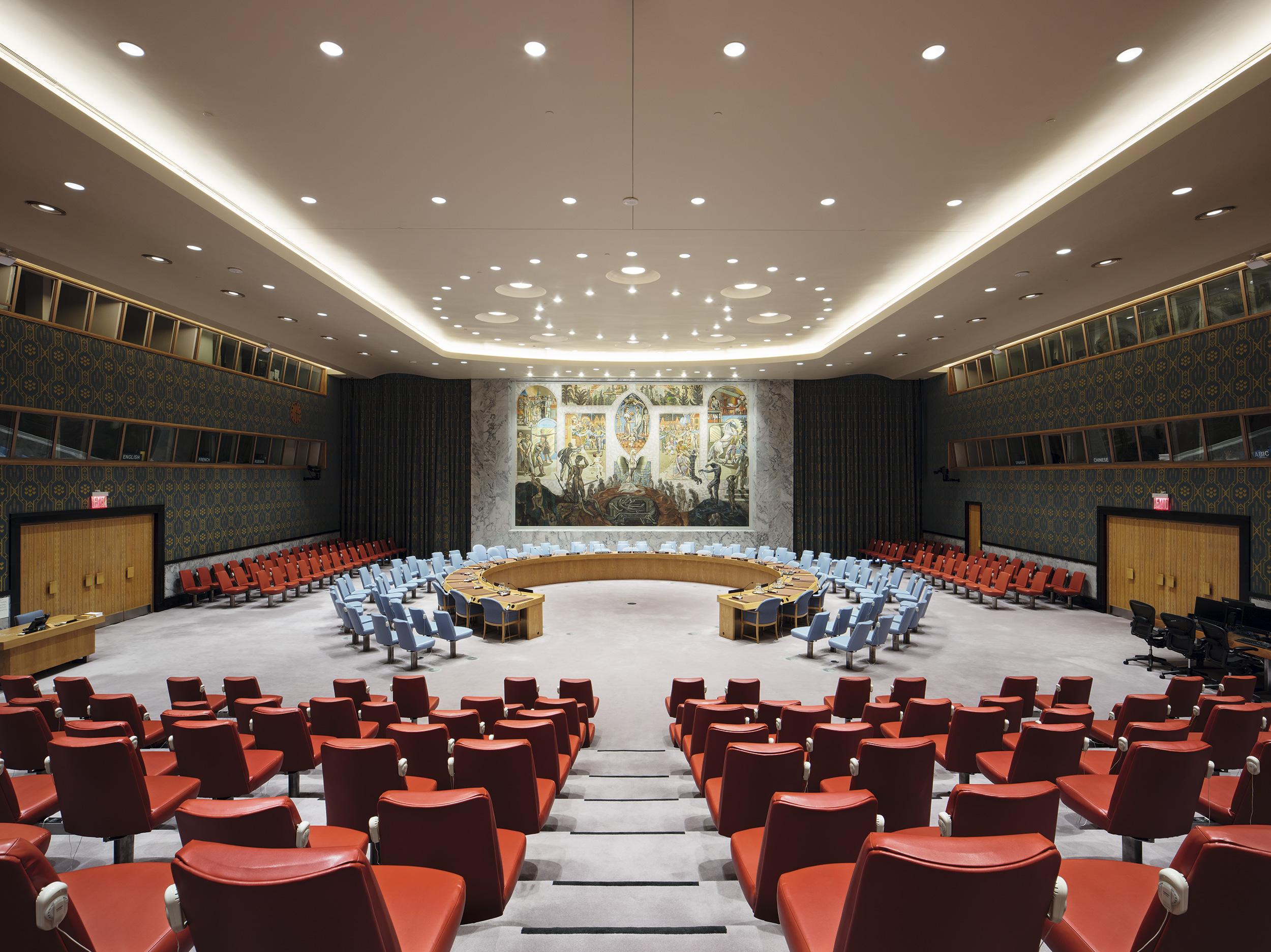 Bilde av Sikkerhetsrådets Sal. Foto: Ivan Brodey