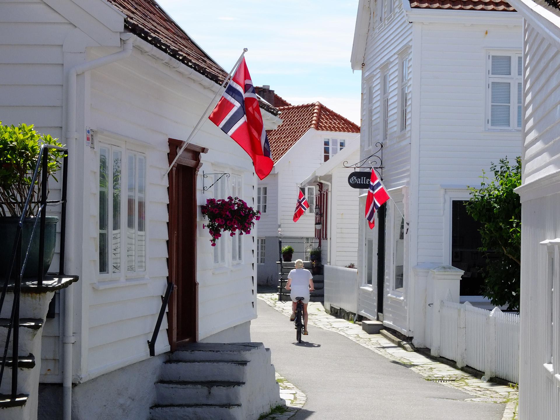Bildet viser Søragadå i Skudeneshavn.. Foto er tatt av Ørjan B. Iversen