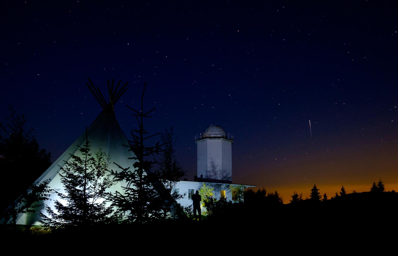 Bilde fra Harestua. Solobservatoriet ble lagt til Harestua på Hadeland, langt unna den forstyrrende lysforurensningen i Oslo. Foto: Hans Aspenberg