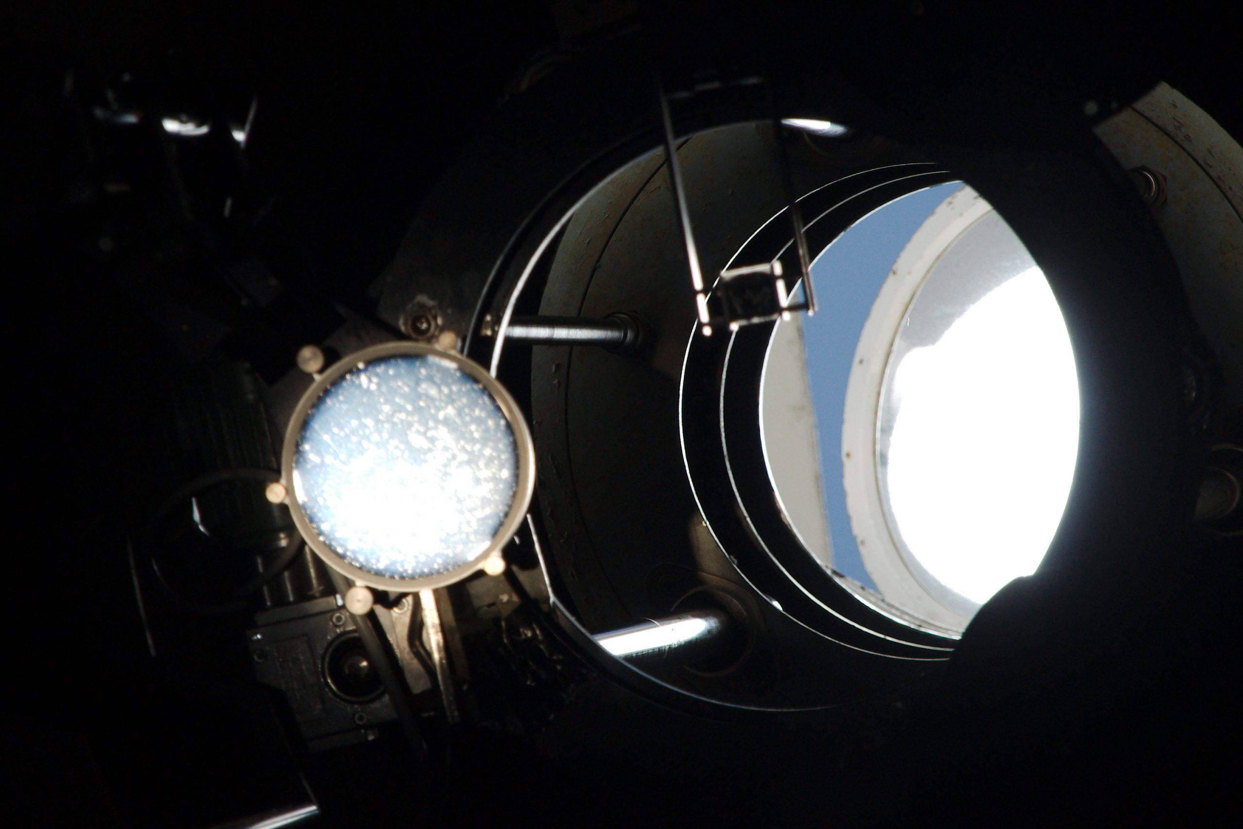 Bilde av Soltårnet sett fra innsiden. Foto: Tycho Brahe Instituttet