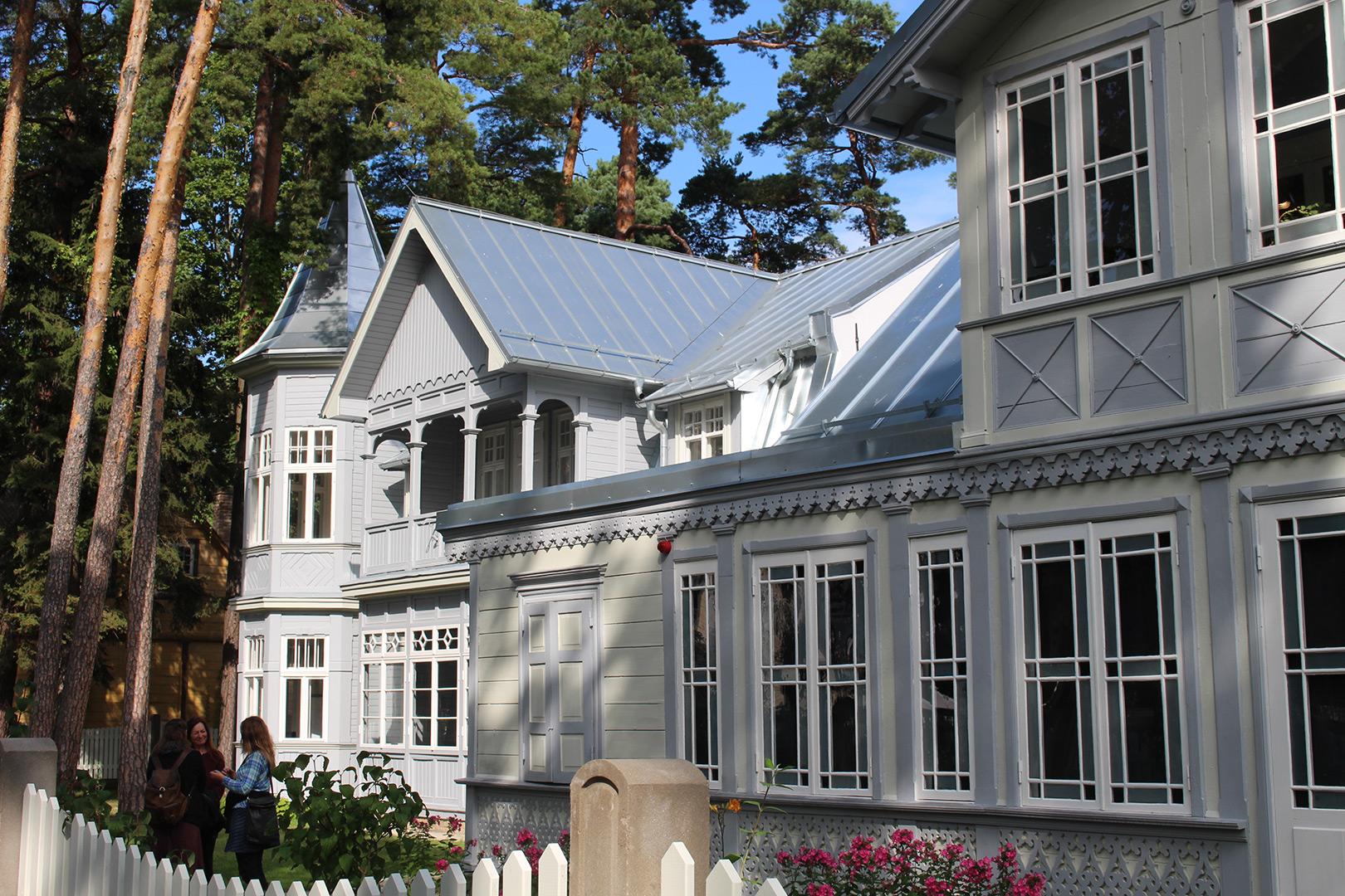 Bilde av Sommerhuset til Rainis og Aspazija i 2017. Foto: Anja Heie, Riksantikvaren