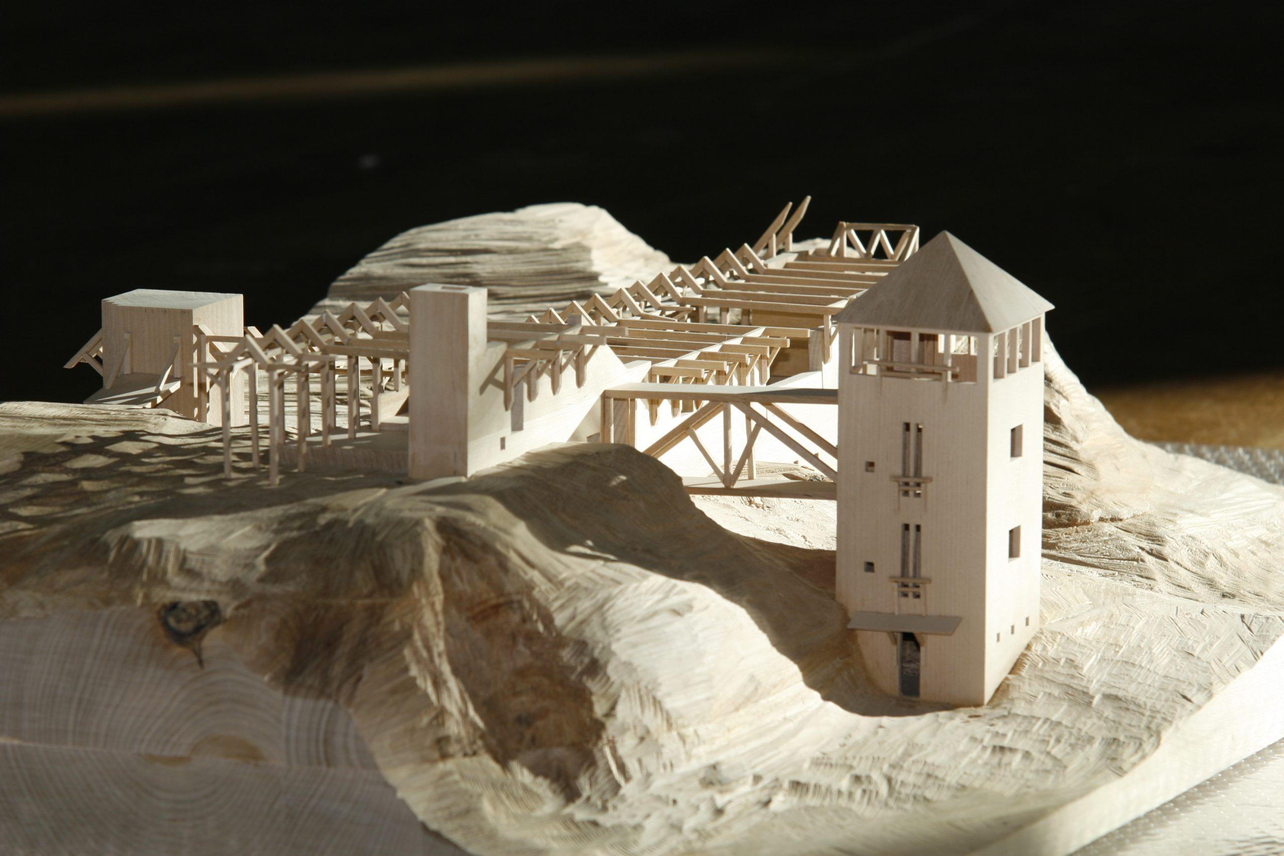 Modell av villa Busk