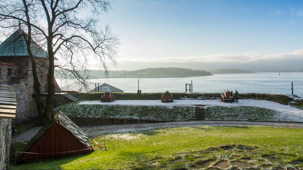 Bildet viser Utsikt over Oslofjorden fra Festningen.. Foto er tatt av Dagfinn Rasmussen, Riksantikvaren