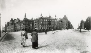 Bilde fra Viktoria Terrasse, Drammensveien, 1800 tallet. Foto: Riksantikvaren