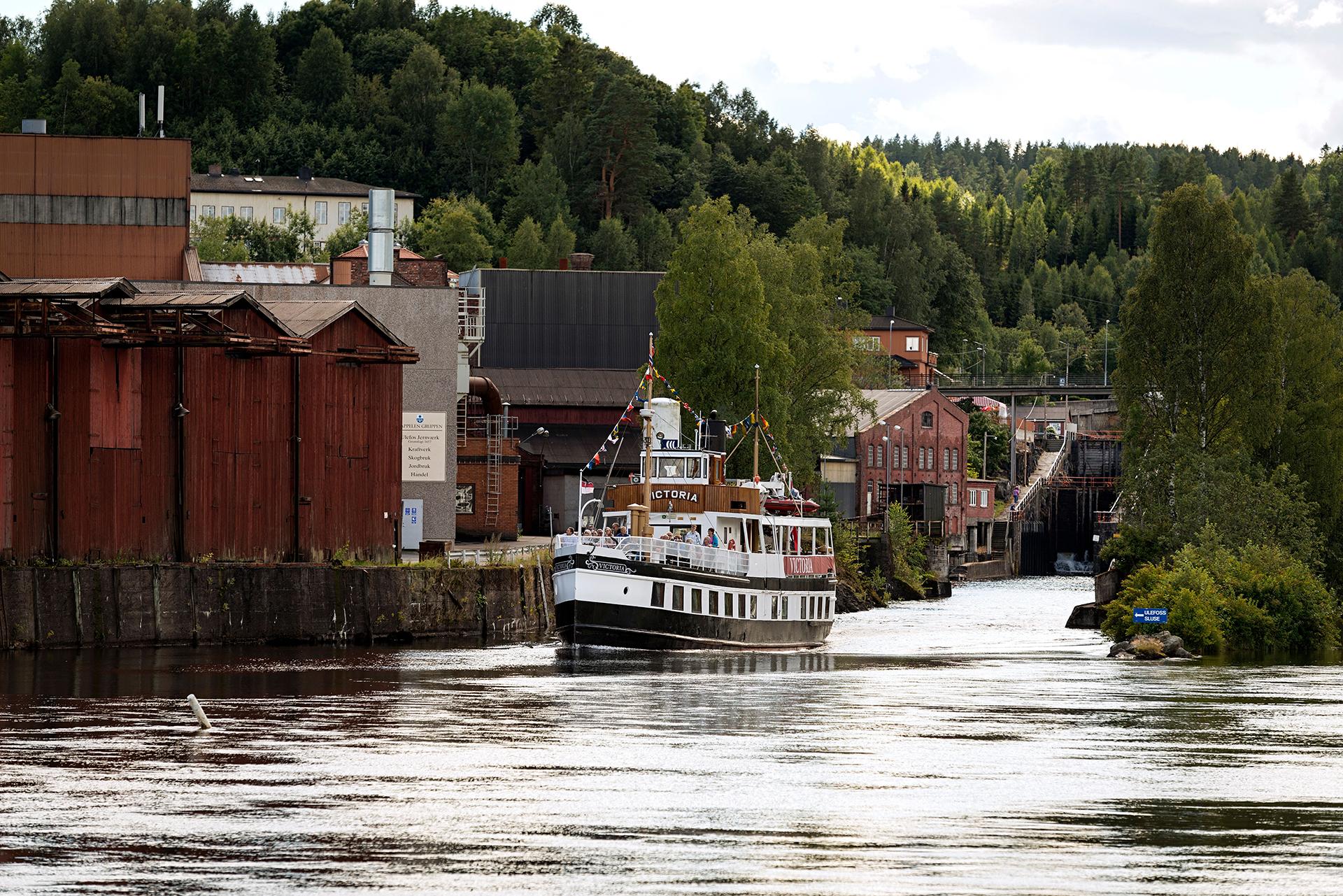 Bilde av Victoria Ved Ulefoss Jernverk. Foto: Tom Riis