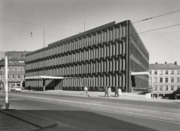 Bilde av den tidligere amerikanske ambassaden i 1959. Foto: Karl Teigen, Nasjonalmuseet