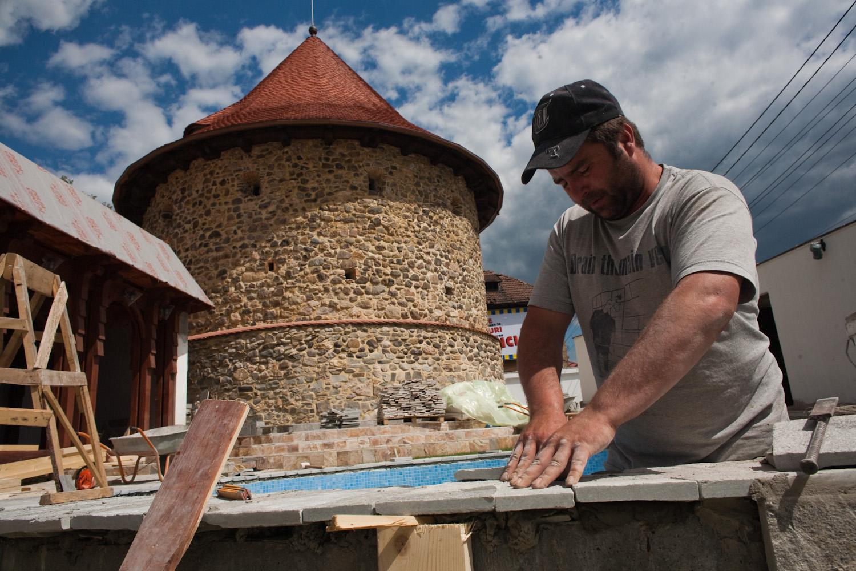 Bildet viser Restaurering og revitalisering av Slaktertårnet i Baia Mare, Maramures, Romania. Foto: Bogdan Croitoru