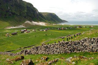 Bildet viser landskapet Liset i Sogn og Fjordane som er et av de mange utvalgte kulturlandskapene. Foto er tatt av Leif Hauge
