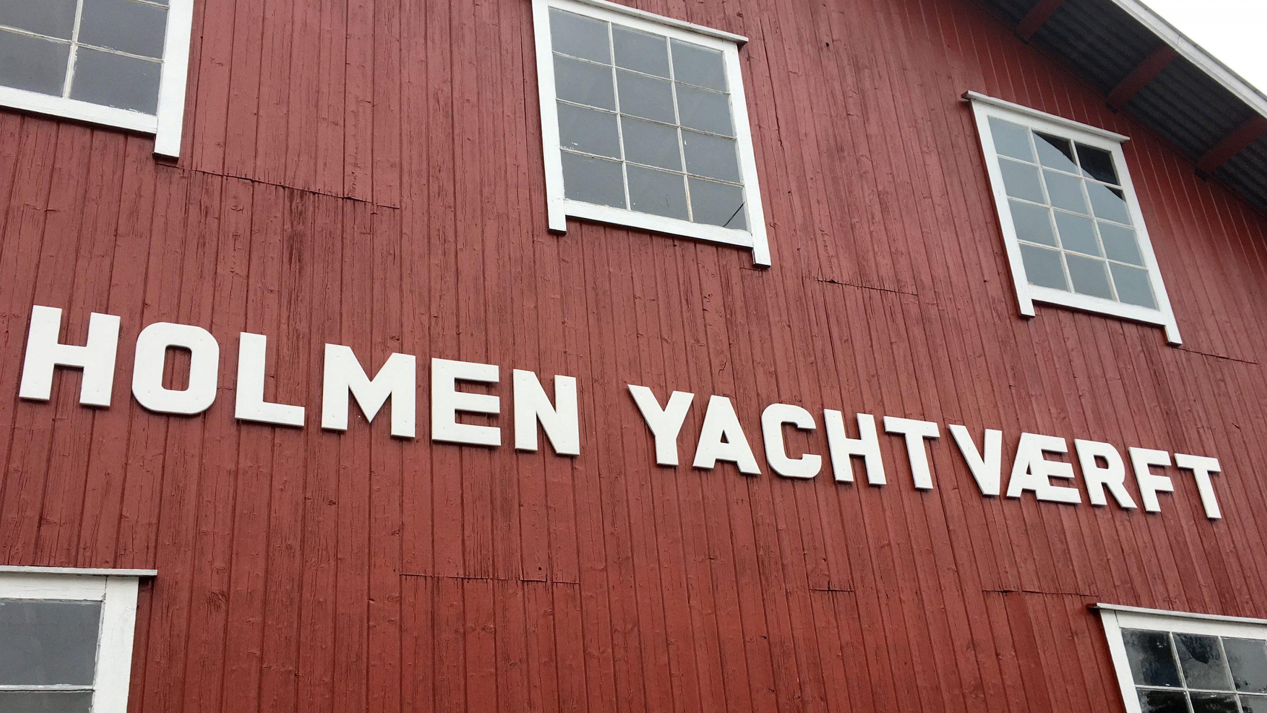 Bilde av Holmen Yachtværft som ble etablert i 1918. Fotografert av Karen Thommesen, Riksantikvaren