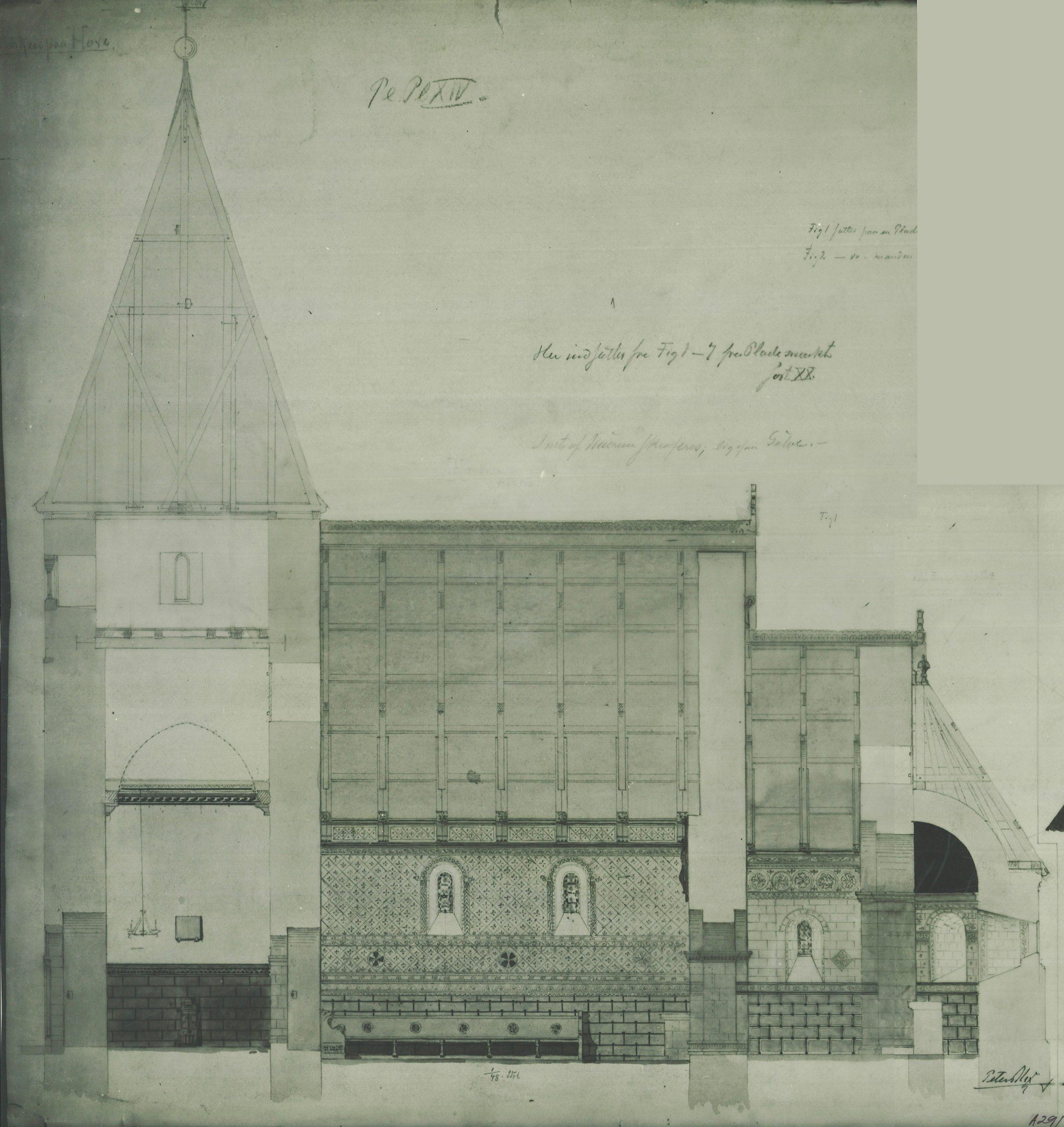 Teikning frå 1870-1890, Peter Andreas Blix.