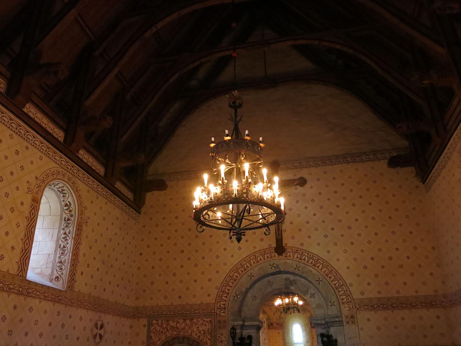 Bildet viser innsiden av kirken og dekoren til Blix. Foto er tatt av Karen thommessen