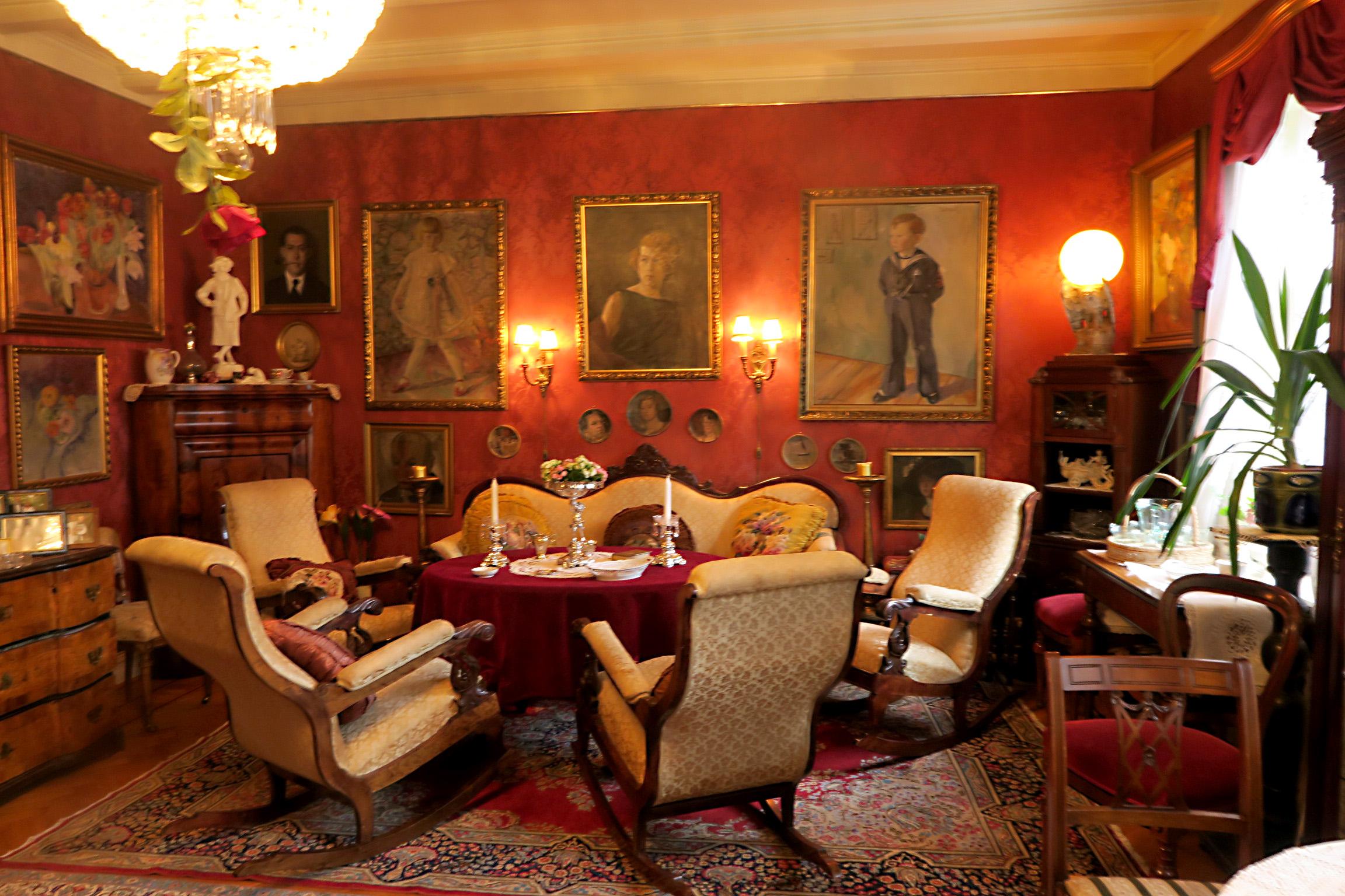 Bilde av interiøret. Fredningen av «Villa Gro-Gro» omfatter bygningens eksteriør og deler av interiøret. Foto er tatt av Karen Thommesen, Riksantikvaren