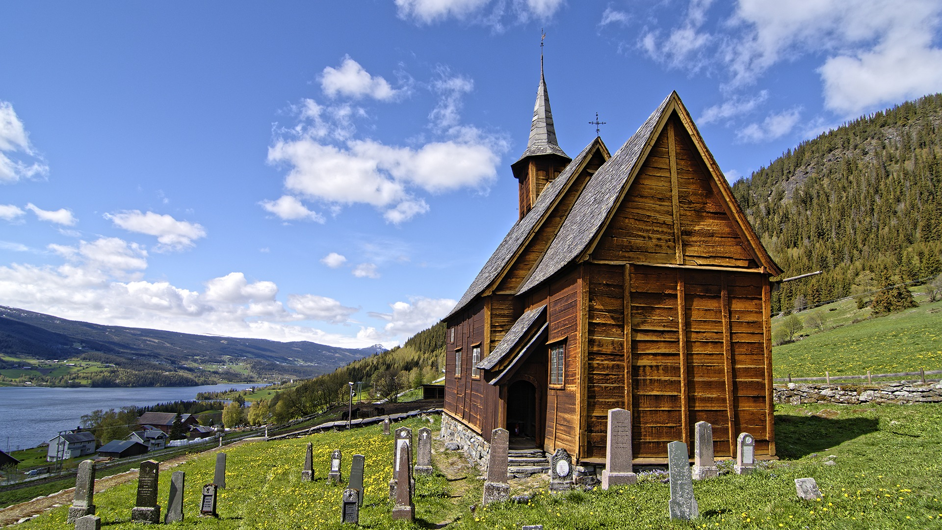 Lomen Stave Church in Valdres is one of the 28 stave churches in Norway.