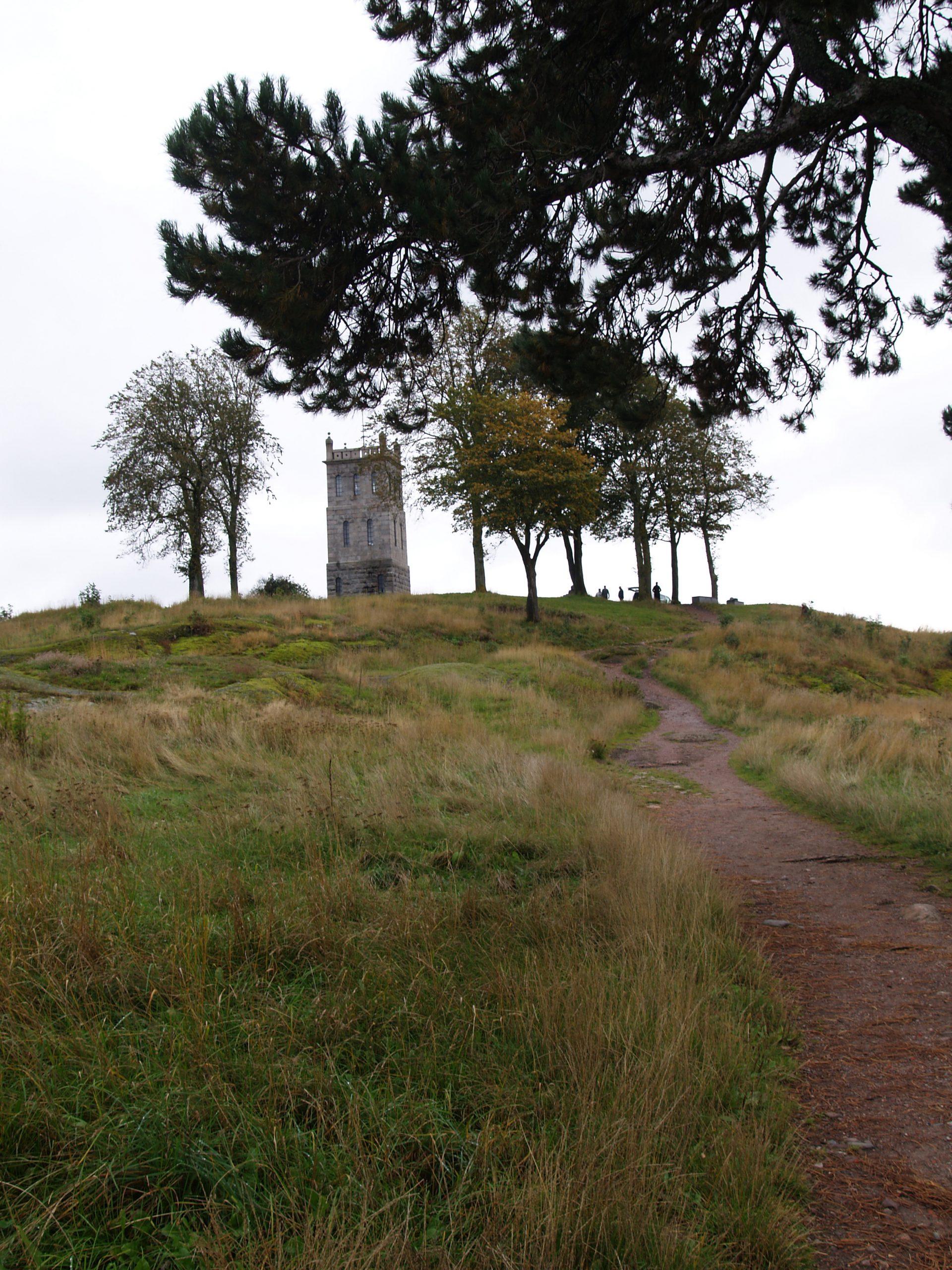 Bilde av slottsfjelltårnet. Tårnet på Slottsfjellet ble reist i 1888 på privat initiativ i forbindelse med Tønsberg bys tusenårsjubileum. Fotograf Synne Vik Torsdottir, Riksantikvaren