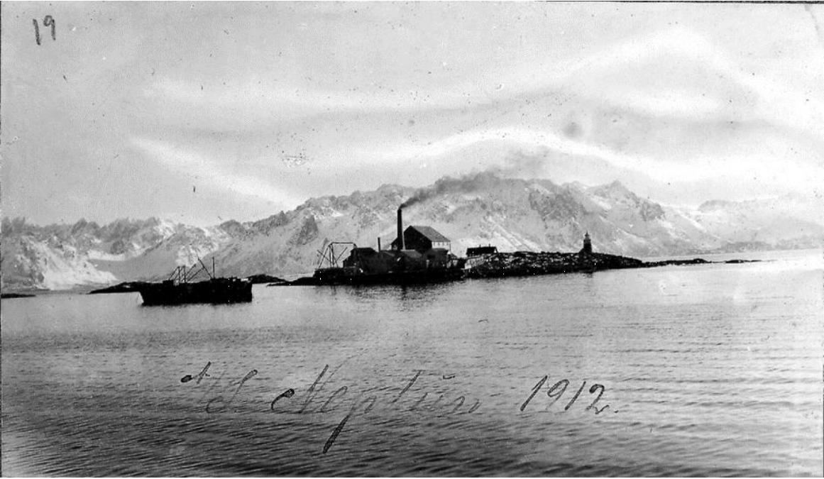 Bilde av Neptun Sildoljefabrikk. fotoet er lånt av Museum Nord